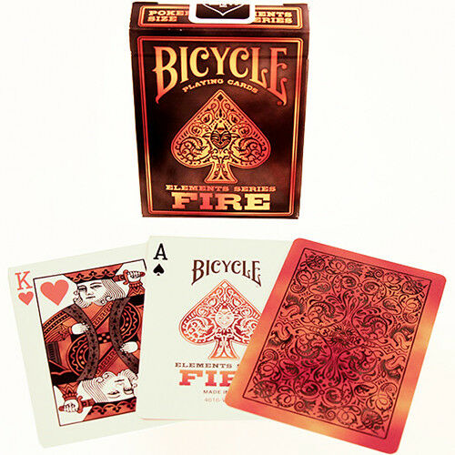 "Bicycle deck poker jeu cartes /""ELEMENTS-Fire Deck/"" Premium USPC playing cards"