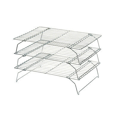 Swift Set of 3 Stackable Cake Cooling Racks Stand 34 x 25cm Kitchen Baking Cook