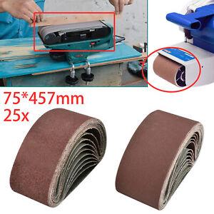 Schleifbänder 75 x 457 mm Korn 40-240 Bandschleifer Schleifband 10 Gewebe