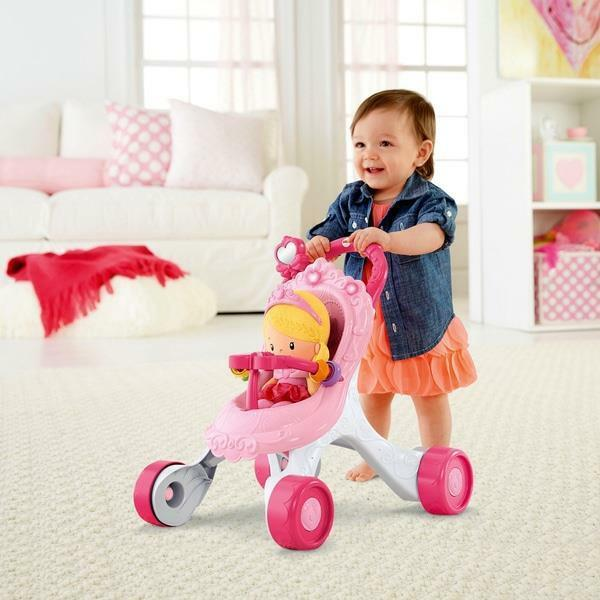Fisher Price Princess Stroll Along Musical Walker And Doll Gift Set Girls