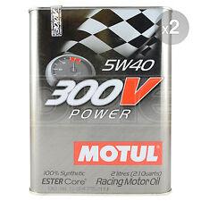 Motul 300V Power 5W-40 Racing Engine Oil 2 x 2 Litres 4L
