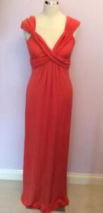 TEMPERLEY-CORAL-ORANGE-SILK-LONG-EVENING-DRESS-SIZE-10