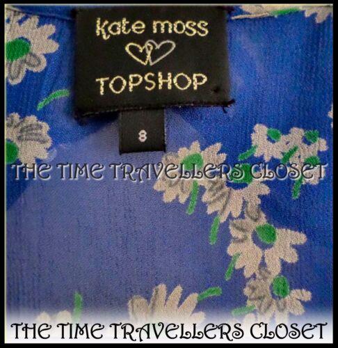 Ww2 Tea 40s Daisy Blouse Topshop Ditsy Blue Uk 8 Moss Landgirl Kate Bnwot Floral FwUHHq