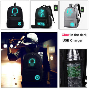 Luminous-Noctilucent-Teenager-Backpack-School-Bags-Anti-theft-Lock-USB-Charger-T