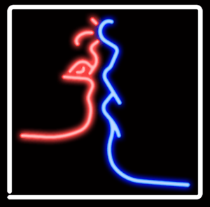 "New Kiss Love Neon Sign Acrylic Light Lamp Poster 14/"" Heart Bar Man Cave"