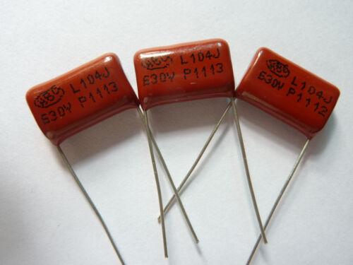 200PCS CBB21 104J 630V 0.1UF 100NF P15 Metallized Film Capacitor