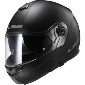 LS2 FF325 clignotant Noir Mat Visière relevable casque motocycle ... 11c3c56216fe