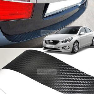 Carbon Black Rear Bumper Protector Decal Sticker For Hyundai 2015
