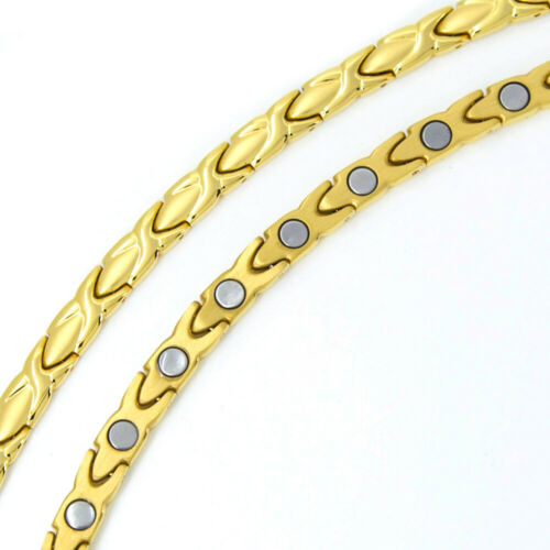 T-Prime 8011 Exklusives Elegantes Wellness Magnetarmband gold magnetix TCM