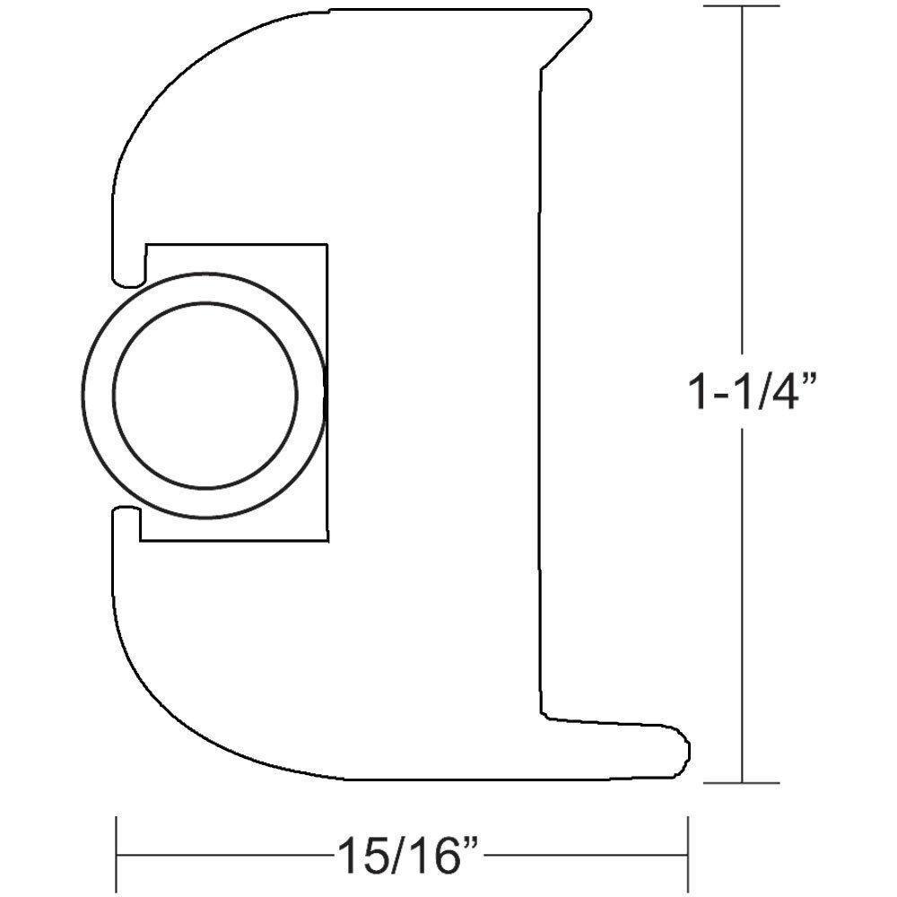 TACO Flex Vinyl Rub Rail Kit  bianca wbianca Insert  50' V113447WWK502