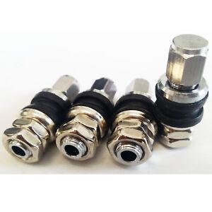 Lot de 4 bouchons de valve BBS en acier inoxydable pour voitures