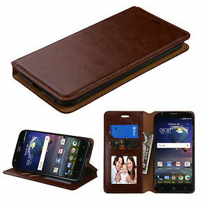 Brown-Stand-Wallet-Flip-Leather-Case-for-Motorola-Moto-X-Force-DROID-Turbo-2