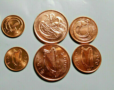 IRELAND 1//2 TO 3 PENNY 4 PIECE VINTAGE UNCIRCULATED PRE-DECIMAL COIN SET