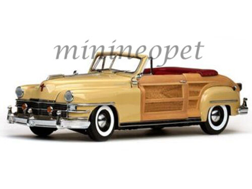SUN STAR 6140 1948 48 CHRYSLER TOWN AND COUNTRY 1 18 DIECAST MODEL CAR CREAM