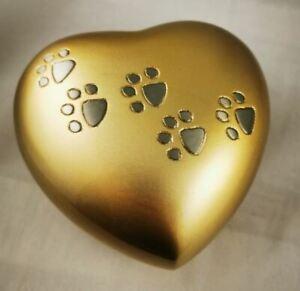 Urne funéraire pour animaux en forme de coeur (neuve) voir descriptif !