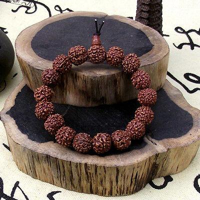 12mm Old Rudraksha seeds Tibetan Buddhism Bracelet