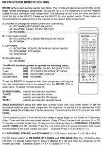 rotel rr 970 remote control owners manual ebay rh ebay com infinity touch control owner's manual control 4 owners manual