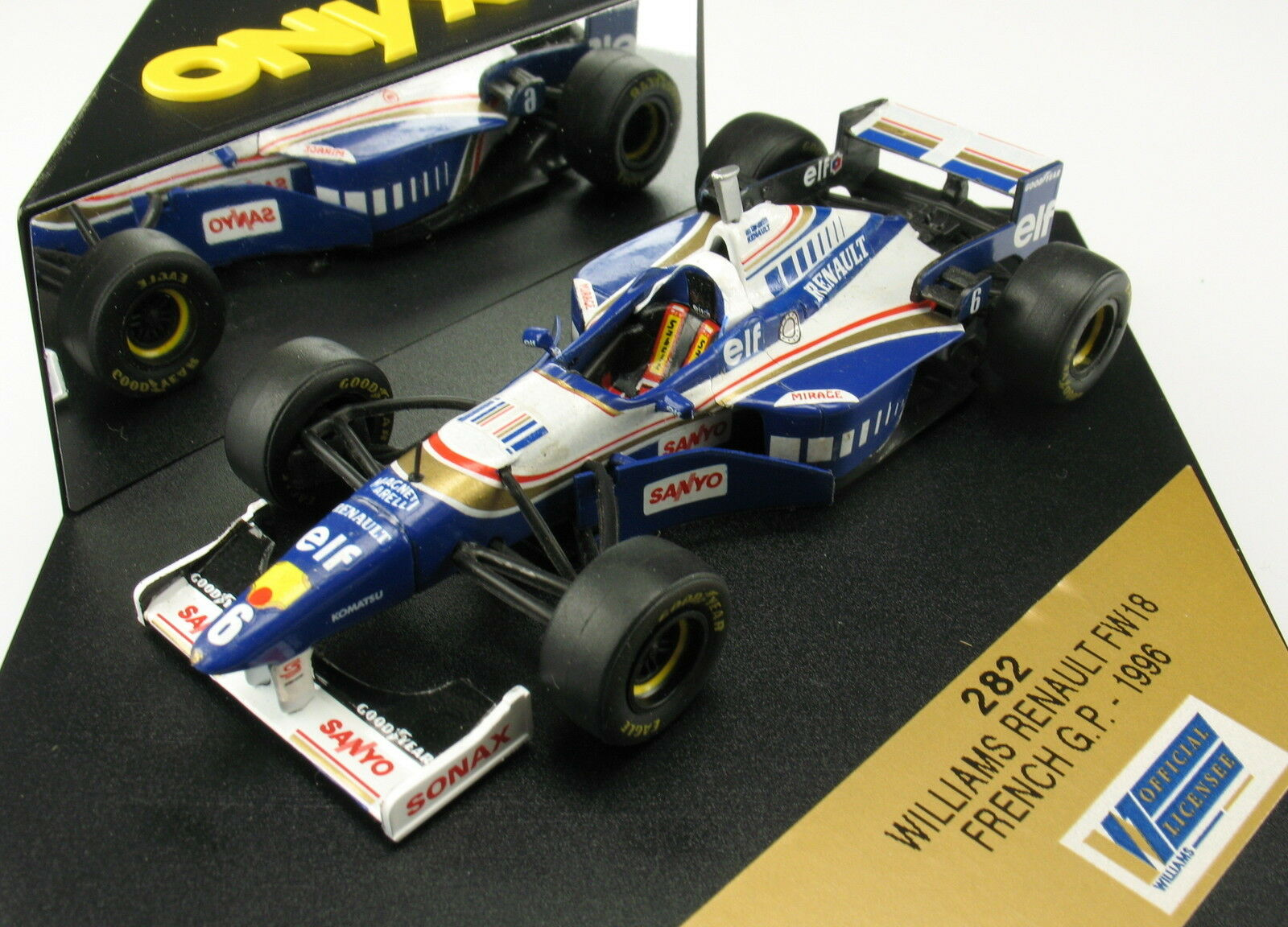 ONYX 282 - F1 WILLIAMS RENAULT FW18 - - - French GP - 1996 - 1 43 - Formel 1 12a8b7