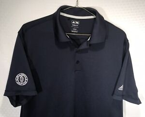 Adidas-Men-039-s-Golf-Polo-Shirt-Size-Large-Short-Sleeve-Clima-Cool-Blue-Nice