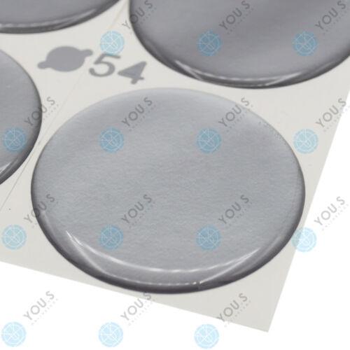 4 x you s tapacubos pegatinas de silicona 54,0 mm-plata autoadhesivo