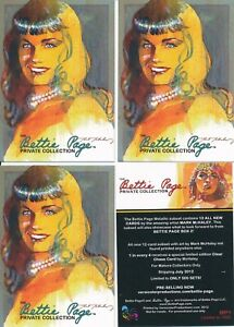 THE BETTIE PAGE PRIVATE COLLECTION PROMO CARD #BP15-FACE