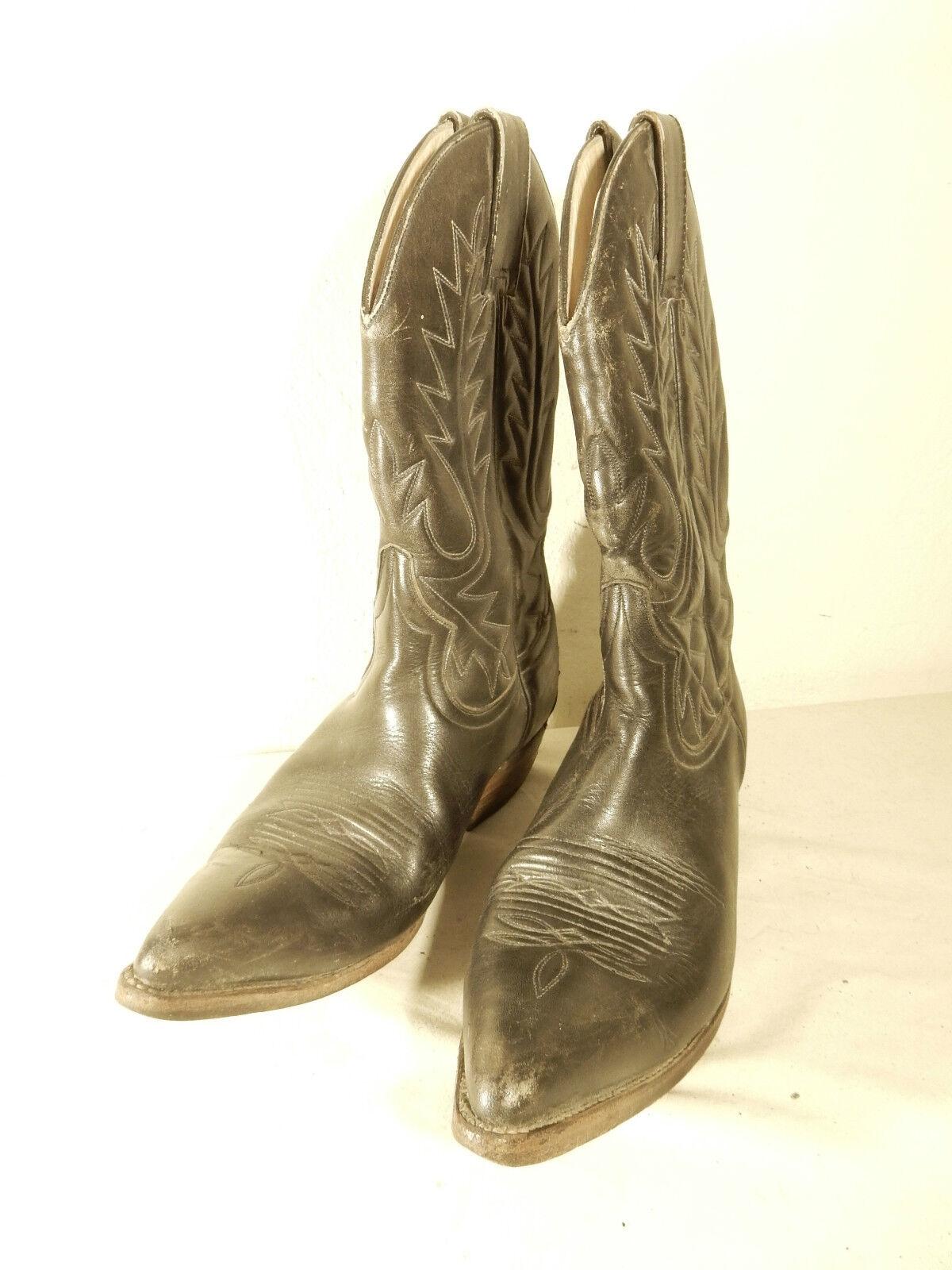 Destroyer bottes De Cowboy Bocas de calidadl bottes T 36 noir Cuir Semelle en Cuir