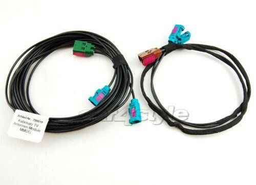 Kabelset arnés adaptador retroadaptación para TV original módulos antenas MMI 2g