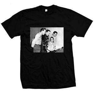 Million-Dollar-Quartet-Elvis-Presley-Hand-gesiebt-Pre-Shrunk-Baumwolle-T-Shirt