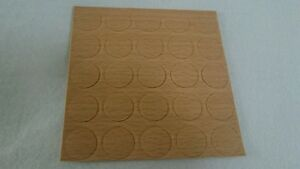 Beech-timber-finished-self-adhesive-screw-cover-caps-14mm-one-leaf-25pcs