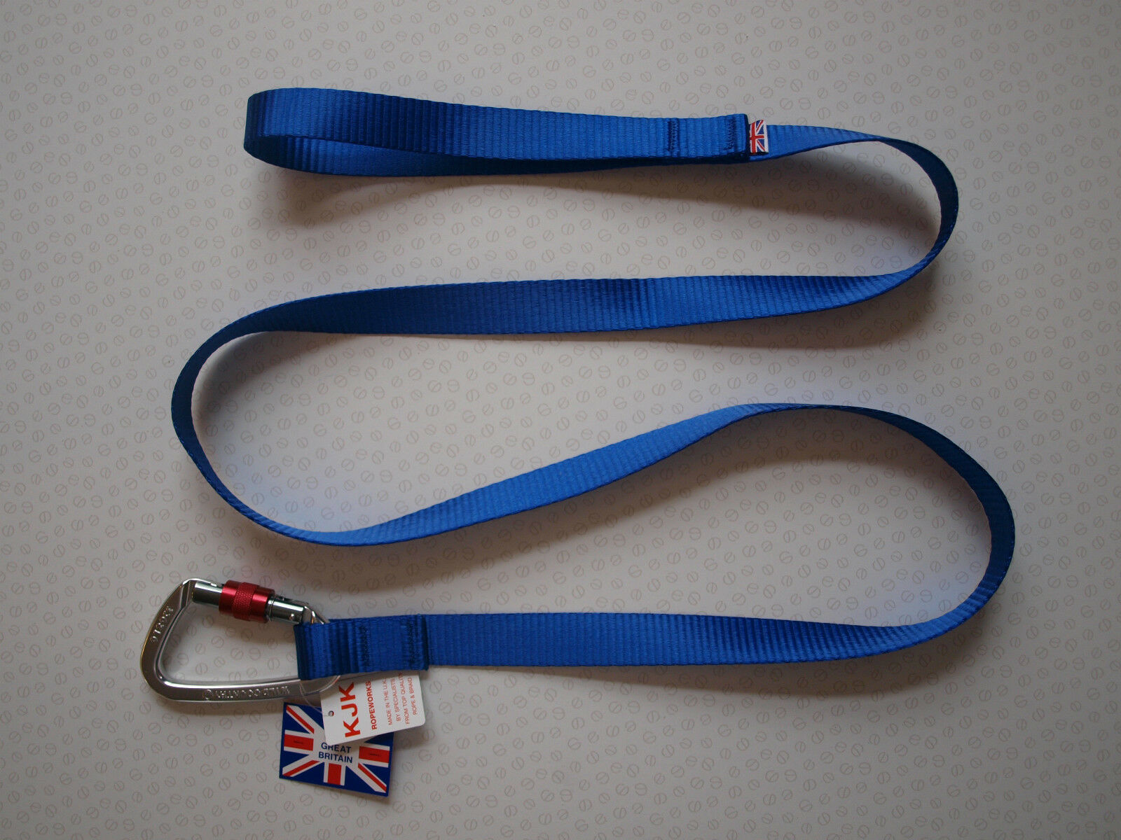 KJK ALPINE CLIP DOG LEAD,25mm - 1.7 metres LONG. MADE IN UK,FREE POSTAGE.blueE.