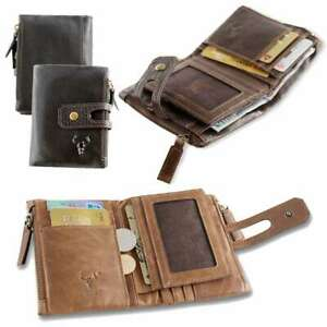 Men-Purse-RFID-Antimagnetic-Vintage-Genuine-Leather-14Card-Slots-Coin-Wallet