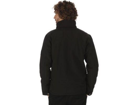 Fleece Mens nero Rml140 Softshell Jacket o scuro Regatta blu Backed Castiel Sherpa ntR0R7dP