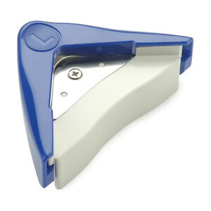 Aidox-Photo-Max-10mm-about-3-8-034-Large-Corner-Rounder-paper-punch-blue