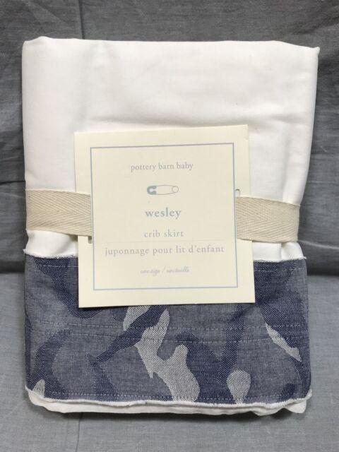 Pottery Barn Kids Wesley Camo Crib Bed Skirt Ebay