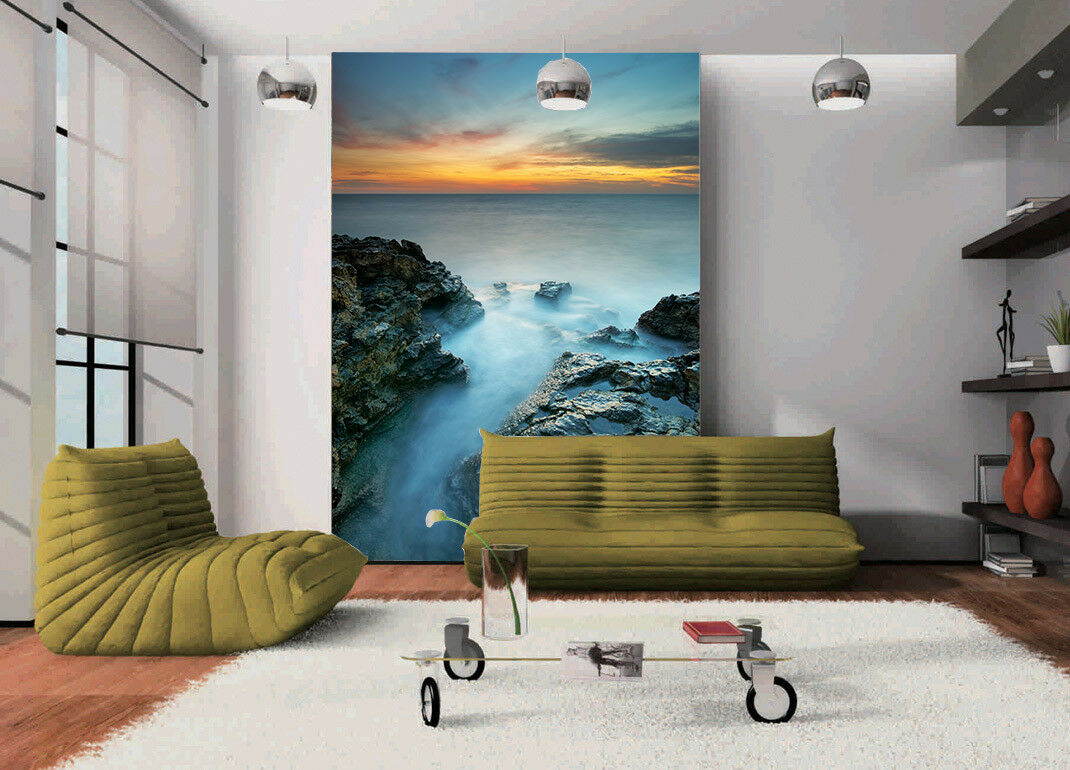 3D Dusk Stones Sea 563 Wall Paper Wall Print Decal Wall Deco Indoor Mural Carly
