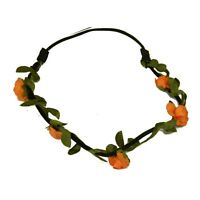 Floral Wreath Headdress Wedding Headband Flower Garland Small Peach Rose