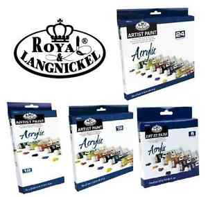 Royal langnickel ensembles de grand 21ml TUBES de acrylique artiste ensembles brosse & 							 							</span>