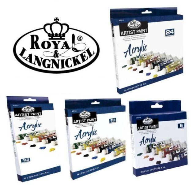 18 tubetti Royal /& Langnickel Set di colori acrilici