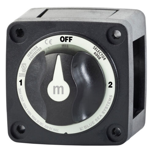 Blue Sea Systems 6008200 M-Series Selector 3 Position Battery Switch Black