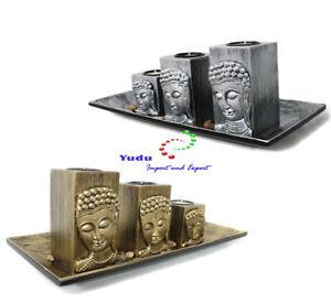 3er-Deko-Teelichthalter-Fengshui-with-Buddha-Head-3D-Effect-nr-FH10