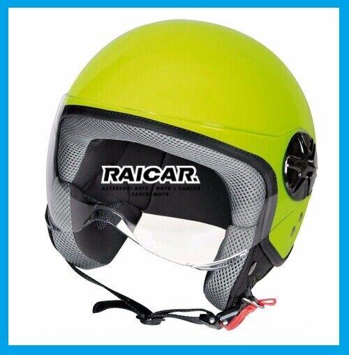 Immagine 1 - Caschi-casco-moto-scooter-giallo-fluo-TAGLIA-L-lampa-90785-LD-2-casco-demi-jet