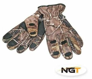 NGT-Fold-Over-Camo-Fishing-Gloves-X-Large-Carp-Course-Pike-Sea-Boat-Fishing