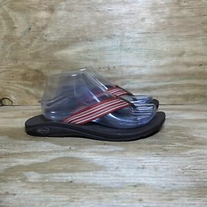 Chaco Flip Flop Sandals, Women's size 9, Brown/Red