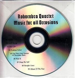 ROBOCOBRA-QUARTET-Music-For-All-Occasions-UK-9-trk-promo-test-CD