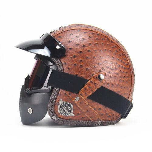 Motorcycle Helmet Open Face Vintage Chopper Goggles Masks Motocross Half Helmets