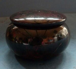 .1920's-30's Available In Various Designs And Specifications For Your Selection Other Antique Decorative Arts Antiques Professional Sale Fine Vintage Cornish Red Serpentine Trinket Box
