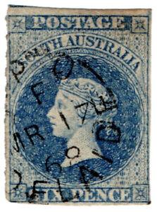 I-B-Australia-South-Australia-Postal-6d-Prussian-Blue-SG-33