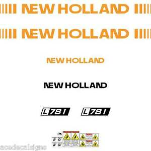 ANY-MODEL-L781-L783-L785-New-Holland-NH-FORD-Skid-loader-repro-decals-stickers