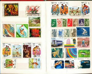 Premier-200-Stamp-Album-stock-book-with-100-All-Different-World-wide-Stamps-lot