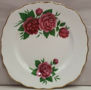 Colclough-China-Royal-Vale-Bone-China-Roses-Side-Plate-c1945-48-Made-in-England